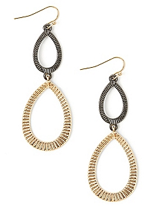 Texture Teardrop Earrings