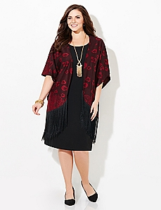 Romantic Fringe Jacket Dress
