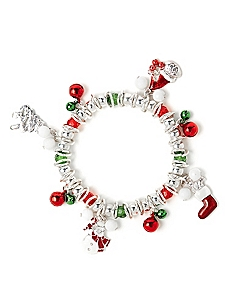 Winter Holiday Charm Bracelet