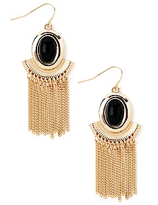 Fringe Pendant Earrings