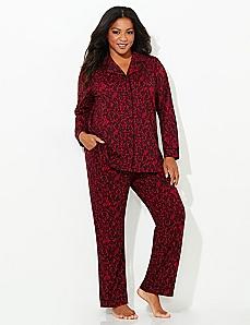 Lace-Print Pajamas
