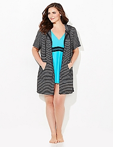 Terry Stripe Cover-Up