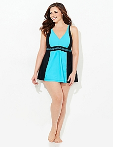 Streamlined Silhouette Swimdress