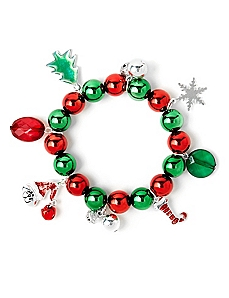 Colorful Holiday Charm Bracelet