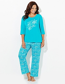 Let It Snow Pajama Set