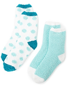Cozy Solid & Dot 2-Pack Socks