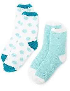 Cozy Solid & Dot 2-Pack Socks