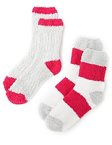 Cozy Colorblock Ripple 2-Pack Socks