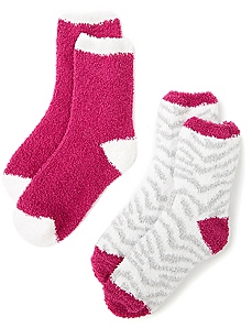 Cozy Zebra Stripe 2-Pack Socks