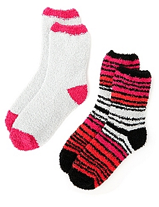 Cozy Striped 2-Pack Socks