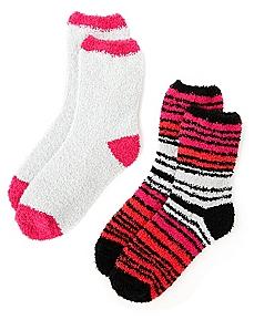 Cozy Striped 2-Pack Socks