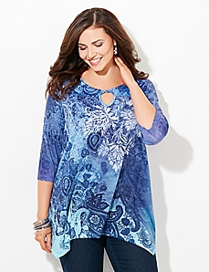 Paisley Twist Top