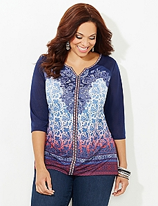 Paisley Sunrise Top