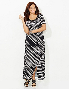 Stunning Stripe Maxi Dress