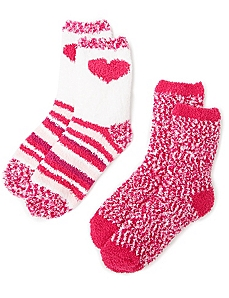 Cozy Hearts 2-Pack Socks