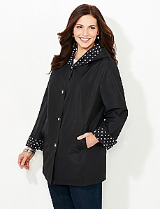 Dot Packable Reversible Coat