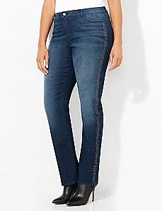 Shimmer Side Jean