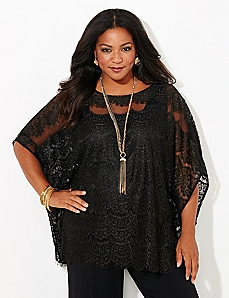AnyWear Gala Lace Poncho
