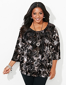 Shimmer Seams Top