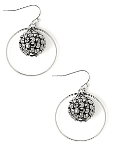Fireball Hoop Earrings