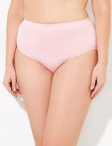 Light Pink Seamless Shadow Stripe Hi-Cut Brief