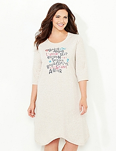 French Phrases Sleepshirt