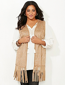Black Label Salinas Fringe Vest