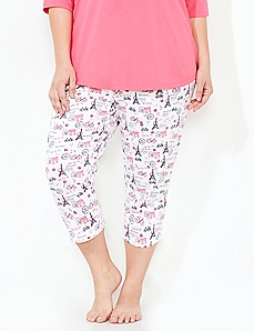 Ooh La La Slim-Leg Sleep Capri