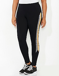 Sleek Stripe Active Legging