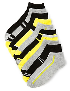 10-Pack Metallic Ankle Socks
