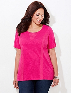 Crochet Seams Tee