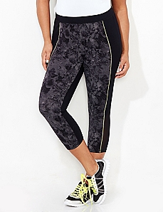 Blurred Floral Active Legging Capri