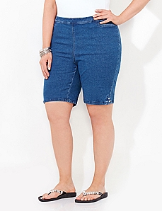 Flat-Front Everyday Denim Short