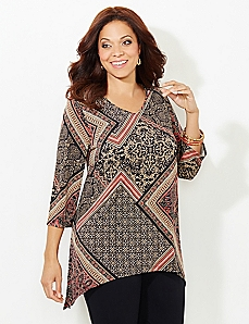 AnyWear Border Print Tunic