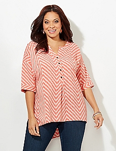 Chevron Split Top