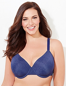 Heathered Navy Underwire Perfect Fit T-Shirt Bra