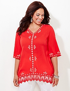 Ashbury Crochet Tunic