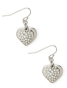 Heart To Heart Layered Earrings
