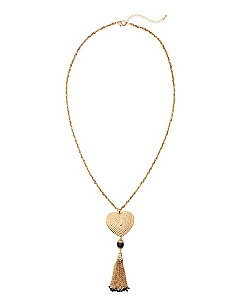 Heart To Heart Tassel Necklace
