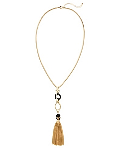 Twist and Tassel Necklace