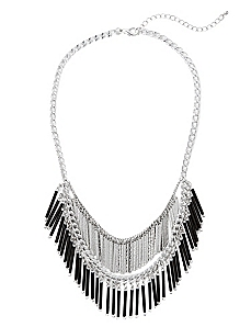 Nightfall Fringe Necklace