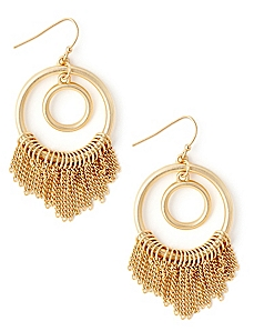 Fringy Hoop Earrings