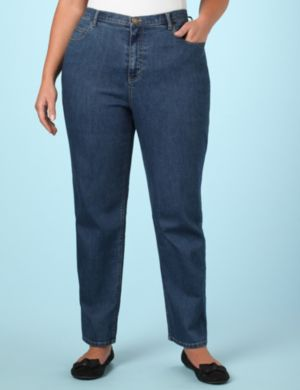 Right Fit™Straight Jeans (Moderately Curvy)