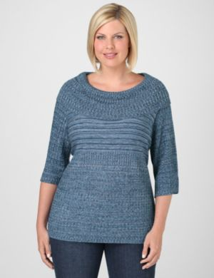 Texture-Rich Cowlneck Sweater
