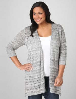 Rippled Pointelle Cardigan