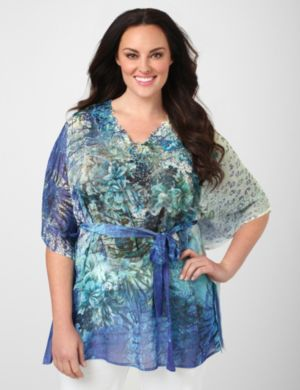 Illusion Sublimation Tied Tunic