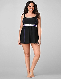 Streamlined Buckled Swimdress