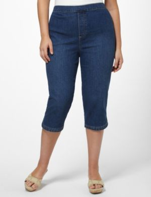 Curved Denim Capri