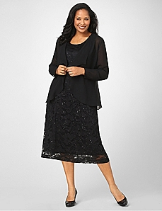 Graceful Lace Jacket Dress