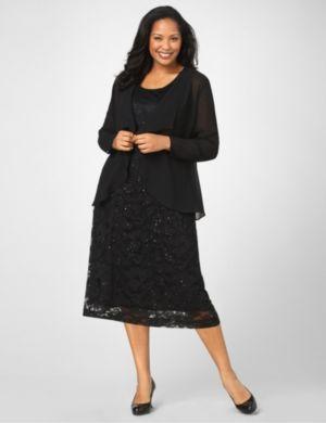 Graceful Lace Jacket Dress